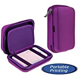 "Navitech Purple Handheld Pocket / Portable / Mobile Printer Carrying Case for the Kodak Mini Mobile Wi-Fi & NFC 2.1 x 3.4"" Photo Printer"