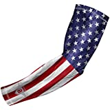 Bucwild Sports USA Flag Compression Arm Sleeve for Boys & Girls - Baseball Basketball Football (1 Sleeve - YM)