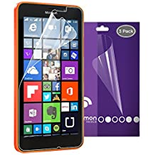 Microsoft Lumia 640 XL Screen Protector, Fosmon [3-Pack] HD CLEAR [Japan 3H Hard Coating Film] Screen Shield for Microsoft Lumia 640 XL