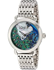 Burgi Womens Quartz Stainless Steel Casual Watch, Color:Silver-Toned (Model: BUR174SS)