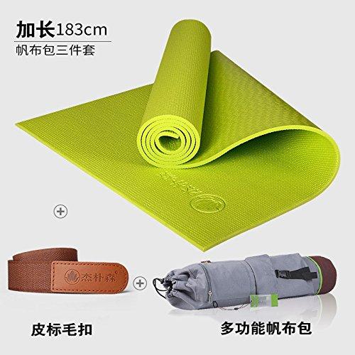 Dark voitured its the Couleur of vert toile 8Mm( Beginner) YOOMAT Le débutant Yoga Mat épais 8Mm Encore Plus évasé et Long Yoga Femme Fitness Mat Mat Anti-Slip167390