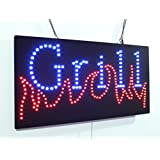 Grill Sign, Super Bright High Quality LED Open Sign, Store Sign, Business Sign, window sign, LED Neon Sign