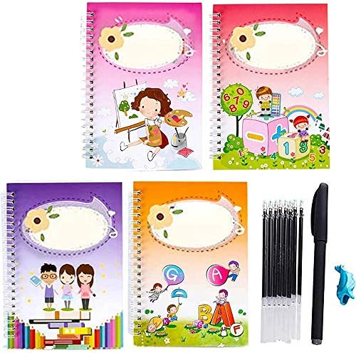 Magic Calligraphy That Can Be Reused Handwriting Copybook Set Reusable Calligraphy Copybook Tracing Book for Children Calligraphic Letter Writing with Pen