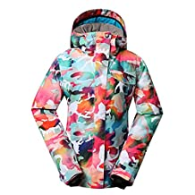 GSOU SNOW Ski Jacket Women Winter Waterproof Windproof Colorful Camo Snowboard Jackets Ski Snow Coats and Pants