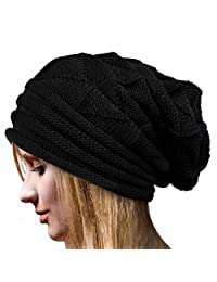 FZAY Winter Baggy Chunky Cable Knit Slouchy Beanie Hat for Men & Women