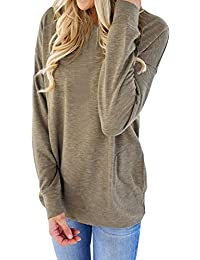 Womens Casual Long Sleeve Pullover Blouse T-Shirt Tops