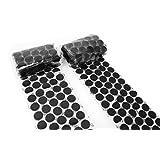 """Hook 'n Loop 3/4"""" Industrial Strength Black Adhesive 250 Dot Roll Pack"""