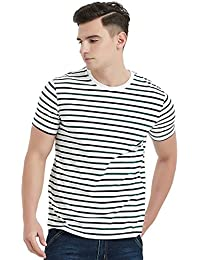 Essential Stripes T-Shirts Comfort Short-Sleeve Crew-Neck Striped Tee Top