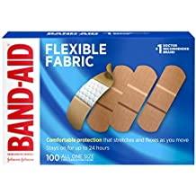 Band-Aid Brand Flexible Fabric Adhesive Bandages for Wound Care and First Aid, All One Size, 100 Count