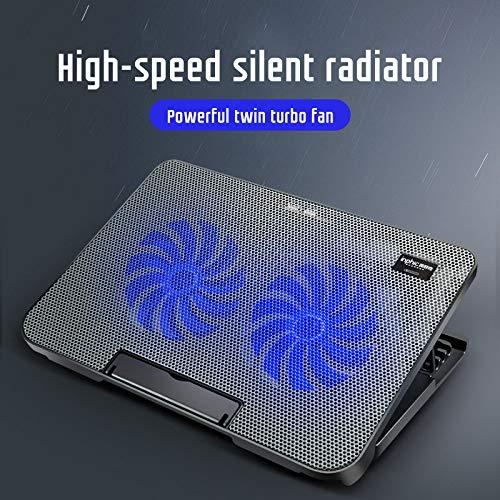 INPHIC Refroidisseur Portable, Refroidisseur pour Ordinateur Portable à Double Ventilateur Super Silencieux, 4 Niveaux réglables