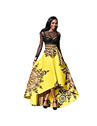 2019 New Women's African Skirt, E-Scenery Summer Boho Long Evening Party Maxi Skirt