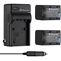 Powerextra 2 Pack Replacement Sony NP-FV70 battery and Charger for Sony HDR-SX45, SX85, XR260V, CX190, CX200, CX210, CX260V, CX580V, CX760V, PJ200, PJ260V, PJ580V, PJ710V, PJ760V, TD20V, VG20H