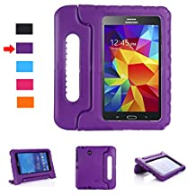 Lumcrissy Samsung Galaxy Tab 4 8.0 Shockproof Case Light Weight Kids Case Super Protection Cover Handle Stand Case for Kids Children For Samsung Galaxy Tab 4 8-inch SM-T330 SM-T331 SM-T335 (Purple)