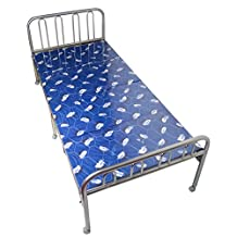 Metal folding bed/folding bed lunch/single double rollaway bed/office simple bed/nap bed-D