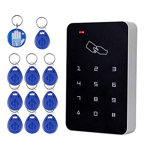 OBO HANDS RFID Standalone Keypad Access Control Card Reader with Digital Keypad+10 EM4100 tags for Home/Apartment/Factory Secure System (T22)