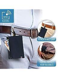 Lewis N. Clark RFID-Blocking - portafolios para cinturón de viaje oculta, Negro, Una talla