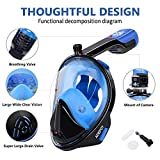 adepoy Full Face Snorkel Mask, Snorkeling Mask for