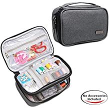 Luxja Sewing Accessories Organizer, Sewing Supplies Organizer for Needles, Scissors, Measuring Tape, Thread and Other Sewing Accessories ( NO ACCESSORIES INCLUDED), Small/Gray