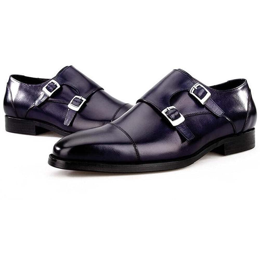 Herren Lederschuhe Authentische europäische und Amerikanische Mode Square Head Schuhe
