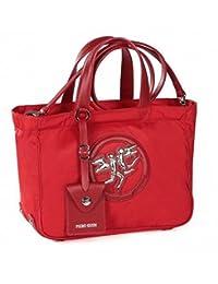 Small Piero Guidi handbag in fabric and leather