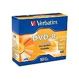 Verbatim 95099 DVD Recordable Media -DVD-R -16x -4.70 GB -10 Pack Slim Case -2 Hour Maximum Recording Time