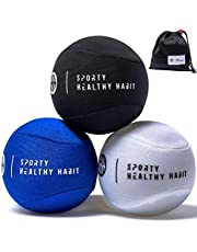 Hand Therapy Stress Ball 3 Pk for Adults and Kids - Relieve Stress/Strengthen Hands Fingers + Wrists - 3 Firmness Levels - Bonus Carry Bag - Ebook Exercise Guide and E-Coloring Book