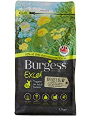 Burgess Excel Nature's Blend Adult Rabbit Food, 1.5 kg