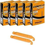 Continental Bicycle Tubes Race 28 700x20-25 S60 Presta Valve 60mm Bike Tube Super Value Bundle (Pack of 5 Cont