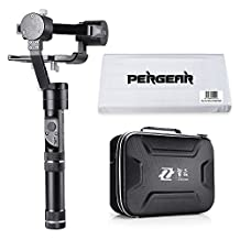 Zhiyun Crane-M 3 Axis Brushless Handheld Gimbal Feautures 360 Degree Unlimited Rotation 12 Hours Running Time 125g to 650g Payload for Smartphones/Action Cameras/DC/Mirrorless Cameras