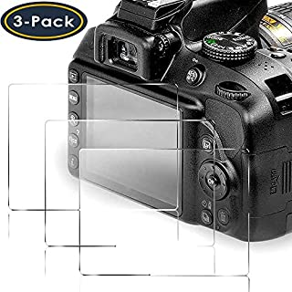QIBOX Screen Protector Compatible with Nikon D3400 D3500 D3300 D3200 D3100 DSLR Camera, [3 packs] 9H Tempered Glass Shield Protection Cover Anti-Bubble Anti-scratch Anti-fingerprint Ultra-clear