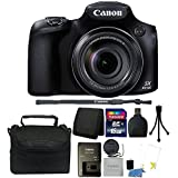 Canon PowerShot SX60 HS 16.1MP 65X Optical Zoom Digital Camera + 32GB Memory Card + Wallet + Reader + Case + 3pc Cleaning Kit + Mini Tripod