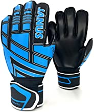 Gloves with Pro Fingersaves, Strong Grip, Secure and Comfortable Fit Match Training for Women and Men, Size 6-