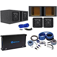 2) Kicker L7S102 10 SoloBaric L7S Subs+Vented Enclosure+1500W Amplifier+Amp Kit