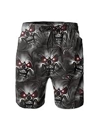 Skull Scary Ghost Skeleton Summer Shorts Swim-trunks With Pockets