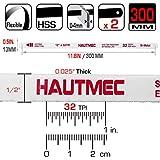 """HAUTMEC 32 TPI 12"""" Length Hacksaw BI-METAL"""