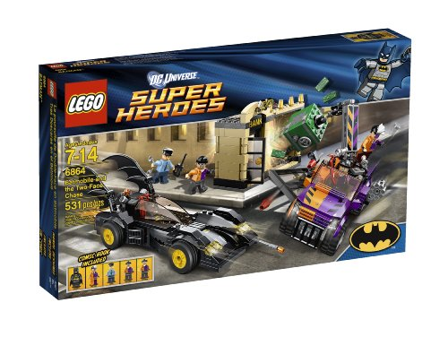 LEGO Superheroes 6864 Batmobile and The Two-Face Chase