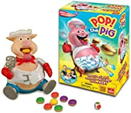 Goliath Pop The Pig Game — New and Improved — Belly-Busting Fun as You Feed Him Burgers and Watch His Belly Gr
