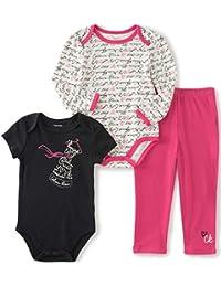 Baby Girls' 3 Piece Creeper Pants Set