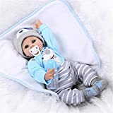 NPK Collection Reborn Baby Doll realistic baby dolls 22 inch Vinyl Silicone Babies Doll Newborn real baby doll Cute boy by NPK collection