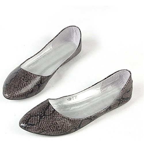 spyman Classic Street Street Street Fashion Women All-Match Comfortable Shallow Mouth Pointed Toe Single Shoes Female Flat Plus... eaa615