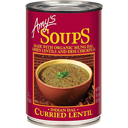 Amy's Organic Soups, Curried Lentil, 14.5 Ounce (Pack of 12) ()