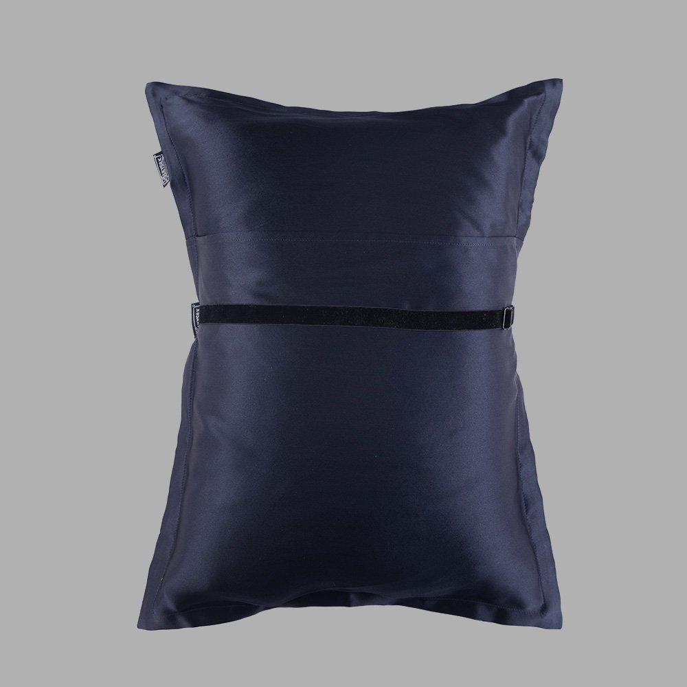 3f906dec1 Amazon.com  LilySilk Silk Travel Set 1x Pillow 1x Silk Oxford Pillowcase  and 1x Silk Eye Mask Classic Mix Sleeping Soft Navy Blue  11.8x13.8(30x35cm)  Home   ...