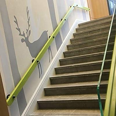 Barandilla de Escalera de Madera Antideslizante barandas de pasamanos de ático montado en la Pared Adecuada para ático Barra Múltiples tamaños Disponibles Fácil de Instalar: Amazon.es: Hogar