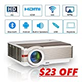 EUG 4200 Lumens WXGA Smart HD Projector with Wifi Bluetooth Android6.0, LED LCD