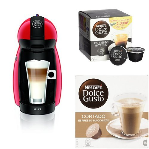 Pack Cafetera Krups Dolce Gusto Piccolo (rojo) + 3 packs ...