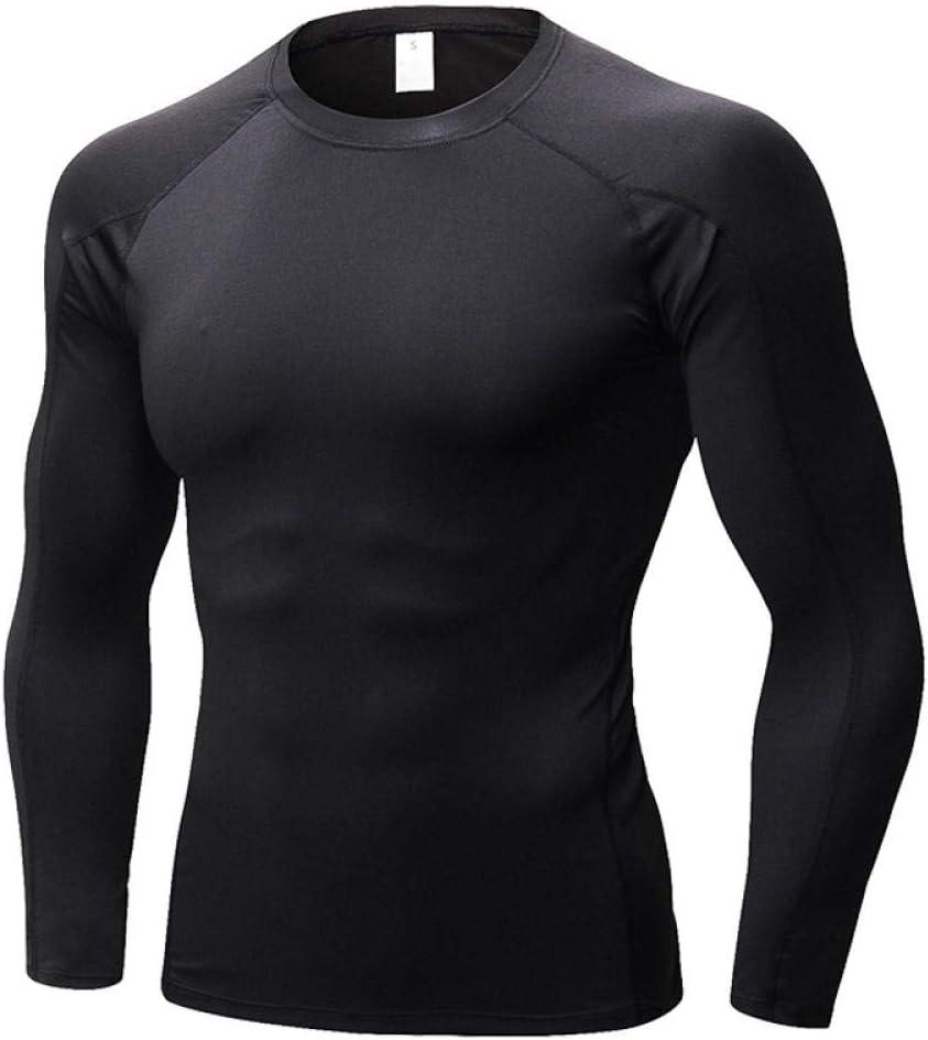 Magliette Men Superiore Palestra,Collant Sportivi a Maniche Corte ad Alta Elasticit/à Compressione a Maniche Lunghe ad Asciugatura Rapida,Uomo Bodybuilding Corto Manica