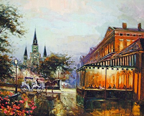 ge New Orleans Baltas Matted Art Print French Quarter ()