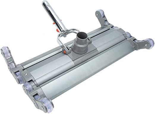 Jimfoty Cabezal de vacío de Piscina, Piscina SPA Aspirador Limpiador Profesional de Cabeza de succión de vacío de aleación de Aluminio de 18 Pulgadas Herramienta de Limpieza de SPA de Piscina: Amazon.es: