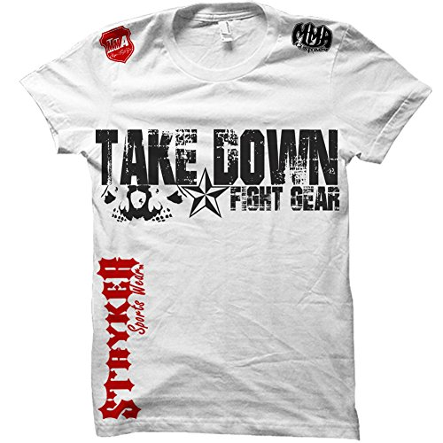 Take Down Fight Gear Skull Star MMA Ufc T-shirt (Large, for sale  Delivered anywhere in USA