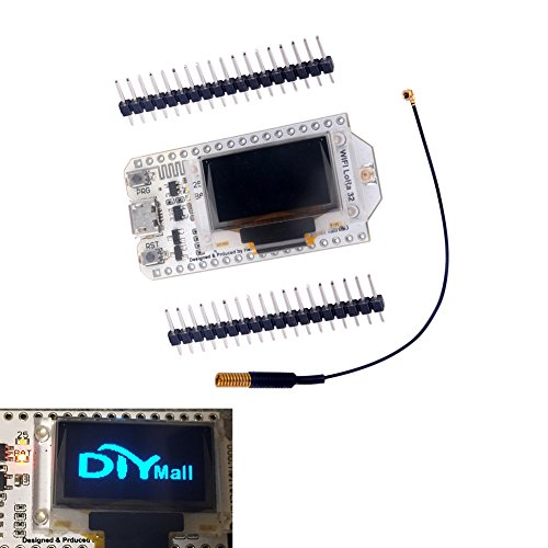 ESP-32S 0.96 OLED Display ESP32 WIFI Bluetooth Lora Module Development Board Antenna Transceiver SX1278 433MHZ IOT for Arduino Smart Home DIYmall